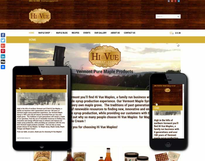eCommerce Web Design In Vermont by 802design